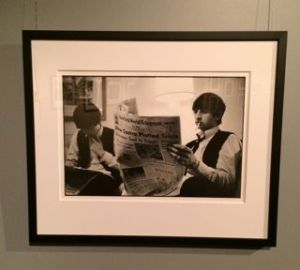 Ringo Starr reads about the ongoing events in 1963.