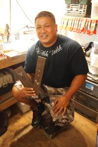 At KoAloha's custom shop.