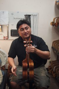 At KoAloha ukuleles.